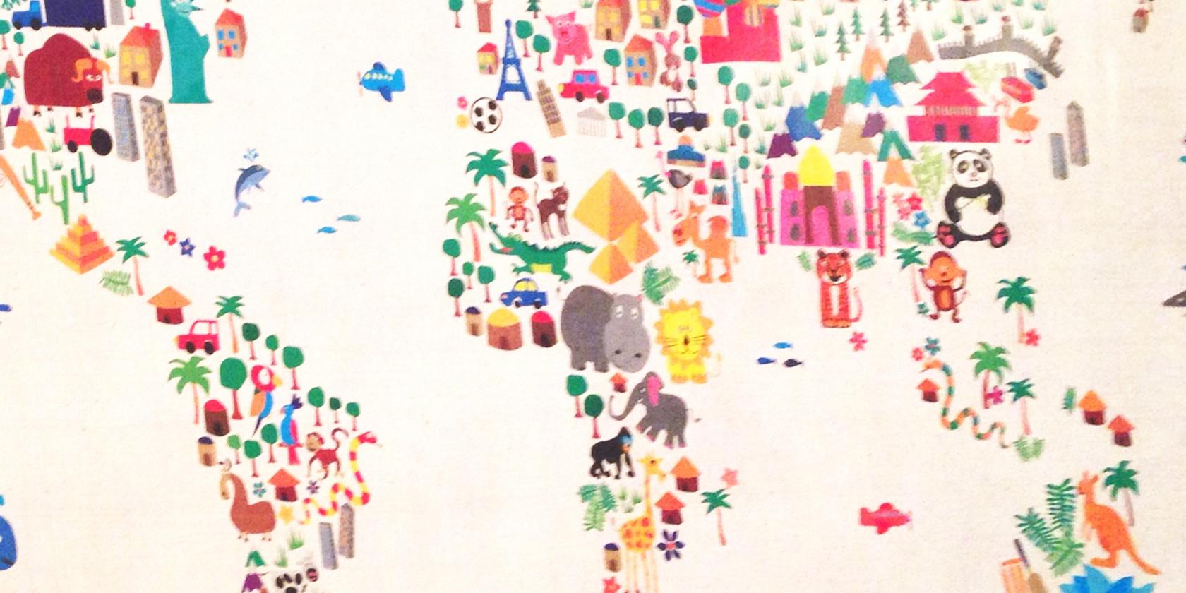 Kids WorkshopsWhat A Big World II Learn Maps Through Art - Big world map for kids